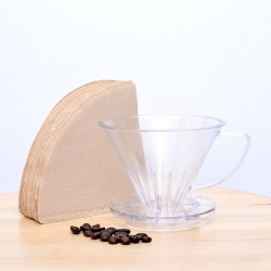 Pourover Dripper 02 with Paper Filter, 100pcs/pak