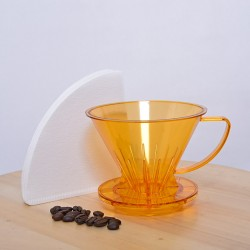 Pourover Dripper 02 with Paper Filter, 40pcs/pak