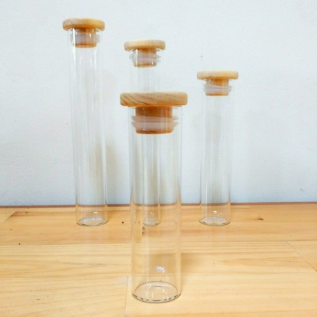 Sample Tube with Wooden Lid Ø 34 x 125 mm