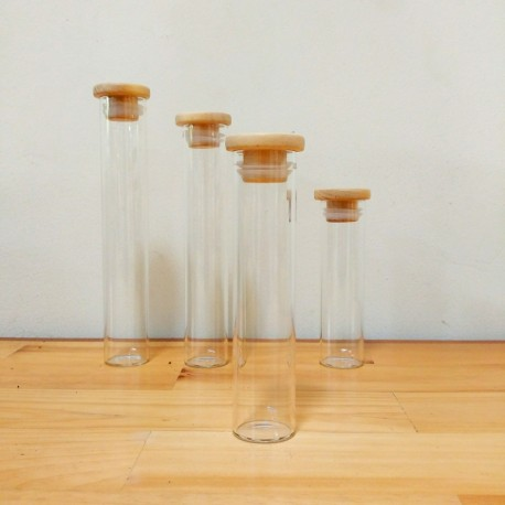Sample Tube with Wooden Lid Ø 34 x 150 mm