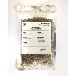 Green Bean Coffee Arabica, Flores, Mbohang Fullwashed, 125 gr