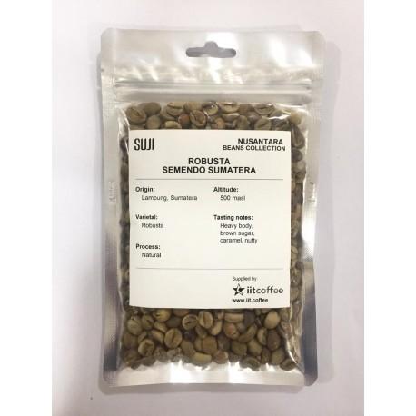 Green Bean Coffee Robusta, Sumatera, Semendo Natural, 125 gr