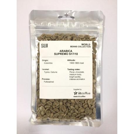 Green Bean Coffee Arabica, Colombia, Supremo S17/18 125 gr