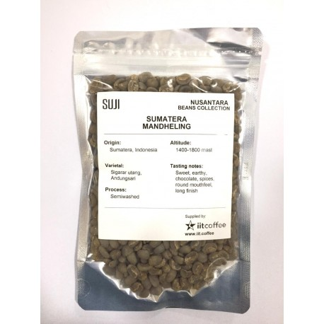 Green Bean Coffee Arabica, Sumatera, Mandheling 125 gr