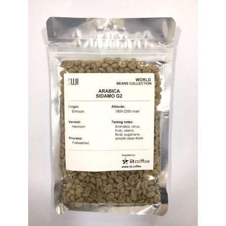 Green Bean Coffee Arabica, Ethiopia, Sidamo Washed (G2) 125 gr