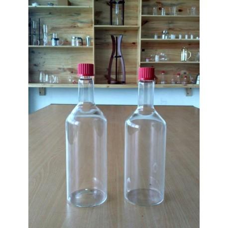 Bottle 750ml, Screw Cap, GL 32, Red
