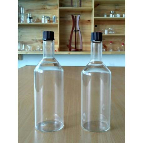 Bottle 750ml, Screw Cap, GL 32, Black