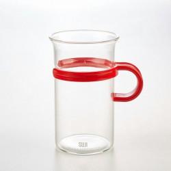 Mug 250 ml, Plastic Handle, Red