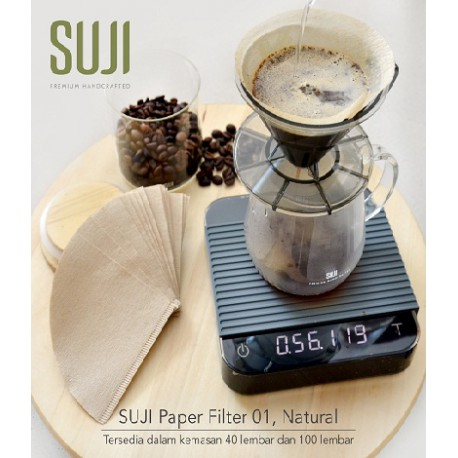 Paper Filter 01, Natural (100 pcs/pack)