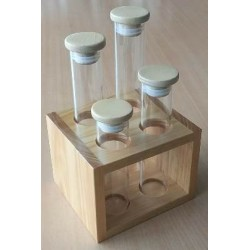 Sample Tube with Wooden Lid Ø 34 x 180 mm