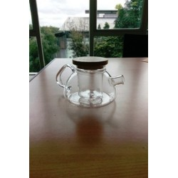Rom Teapot 450 ml with Glass Infuser, Wood Lid